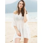 best Fashionable Scoop Neck Dolman Sleeve Cover-Up Dress For Women