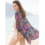 Ethnic Geometrical 3/4 Sleeve Cover-Up Kimono For Women for sale