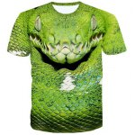 Fashion 3D Snakehead Printed Pullover T-Shirt For Men