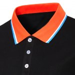 Color Block Splicing Design Turn-Down Collar Short Sleeve Polo T-Shirt For Men deal