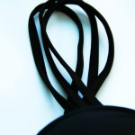Chic Strappy Hollow Out One Piece Black Swimwear For Women for sale