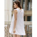 Fashionable Jewel Neck Sleeveless Embroidered A-Line Dress For Women deal