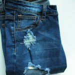 Bermuda Ripped Denim Long Shorts for sale