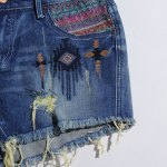 Women's Stylish Bleach Wash Ripped Shorts for sale