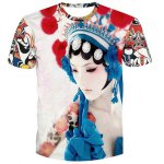 Fashion Men's Pullover Peking Opera Actress Printed T-Shirt