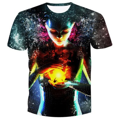 Pullover Witch Printed T-Shirt For Men