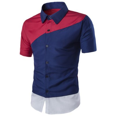 Turn-down Collar Short Sleeves Shirt