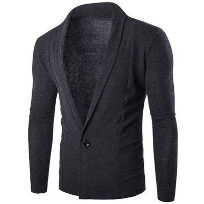 Lapel Long Sleeves Knitted Blazer