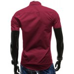 Checked Button Fly Turn-down Collar Short Sleeves Slimming Shirt For Men deal