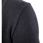 One Button Single-Breasted Solid Color Lapel Long Sleeves Cardigan For Men deal