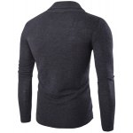 cheap One Button Single-Breasted Solid Color Lapel Long Sleeves Cardigan For Men