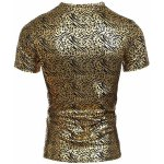 cheap Modish V-Neck Stamping Design Short Sleeve Men's T-Shirt