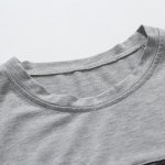 Trendy Round Neck Color Block PU-Leather Spliced Short Sleeve Men's T-Shirt deal