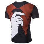 cheap Pullover Color Block Finger Printed T-Shirt For Men