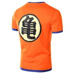 cheap Faux Twinset Chinese Character Print Short Sleeve T-Shirt For Men