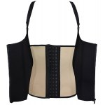 Retro Style Scoop Collar Zip Up Sheathy Corset For Women for sale