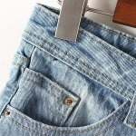 Stylish Destroy Wash Frayed Low Waist Denim Jeans Shorts For Women deal