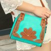 cheap Ethnic Style Hollow Out and Color Matching Design Crossbody Bag For Women