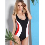 Active Style U Neck Color Block Racerback Swimwear For Women for sale