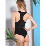 Active Style U Neck Color Block Racerback Swimwear For Women photo