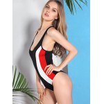 best Active Style U Neck Color Block Racerback Swimwear For Women