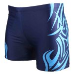 cheap Printed Elastic Waist Swimming Trunks For Men