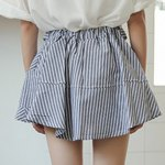 Fashionable High-Waisted Striped Slimming Women's Culotte deal