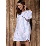 Off-The-Shoulder Long Sleeve Printed Casual Dress deal