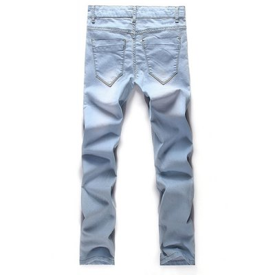 Fashion Straight Legs Zip Fly Denim Pants For MenMens Jeans<br>Fashion Straight Legs Zip Fly Denim Pants For Men<br><br>Material: Jeans<br>Pant Length: Long Pants<br>Wash: Medium<br>Fit Type: Loose<br>Waist Type: Mid<br>Weight: 0.514kg<br>Package Contents: 1 x Denim Pants