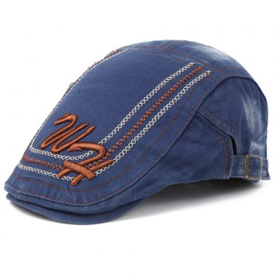 Chic Letters Stitches Embroidery Cabbie Hat For Men