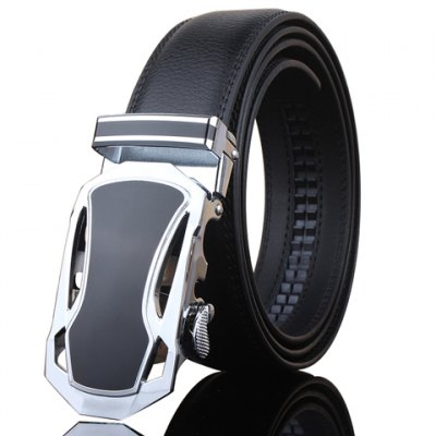 Hollow Out Sports Car Shape Metal Buckle Wide Belt For Men