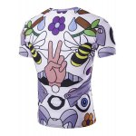 cheap Slimming Round Neck Bee Printed T-Shirt For Men