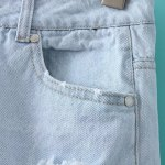 Mid Rise Ripped Denim Jeans Shorts for sale