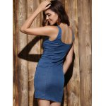 Mini Zip Up Denim Night Out Bandage Dress for sale