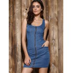 best Mini Zip Up Denim Night Out Bandage Dress