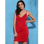 cheap Spaghetti Strap Mini Braless Dress