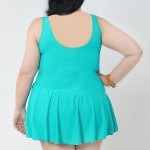 Simple V-Neck Solid Color Swimsuit For Women deal