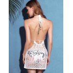 best Trendy Halter Cut Out Solid Color Backless Women's Cover-Up
