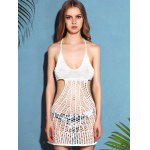 Trendy Halter Cut Out Solid Color Backless Women's Cover-Up deal