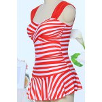 Simple Straps Twisted Striped Swimwear For Women for sale