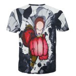cheap Round Neck 3D Cartoon Figure Printed Slimming Short Sleeve T-Shirt For Men