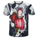 Round Neck 3D Cartoon Figure Printed Slimming Short Sleeve T-Shirt For Men