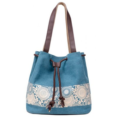 Canvas Design Shoulder Bag For Women