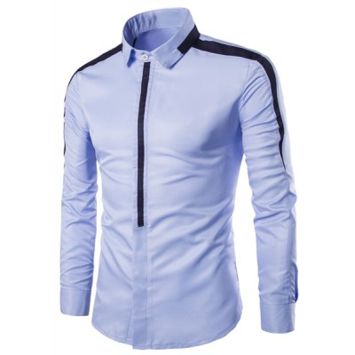 Turn-Down Collar Long Sleeve Shirt