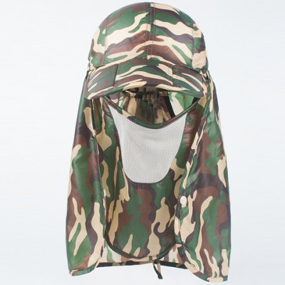 Dismountable Face Mask Camouflage Sun-Resistant Baseball Cap For Women