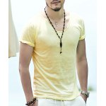 Slim Fit Yellow T Shirt