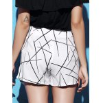 Stylish Mid Waist Printed Asymmetrical Culottes For Women for sale