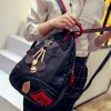 cheap Fashionable Color Block and Leaf Pattern Design Backpack For Women