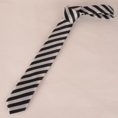 Black and White Wide Twill Pattern 6CM Width Tie For Men