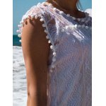 Scoop Collar Sleeveless See-Through Crochet Tunic photo